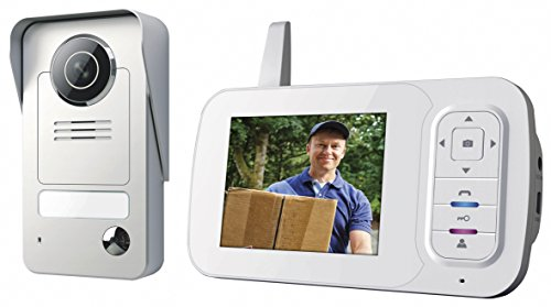 Smartwares VD38W Video intercom set – Wireless – Portable indoor unit – Color monitor