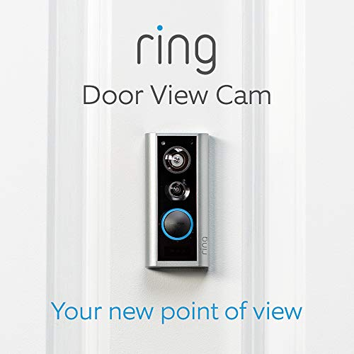 Ring Door View Cam | Video doorbell that replaces your peephole with 1080p HD video and Two-Way Talk. For doors of 34-55mm thickness.